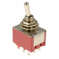 5 x On/On 3PDT Mini Toggle Switch Miniature
