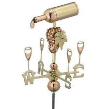 Good Directions Wine Bottle Weathervane Polished Copper w/Garden Pole 8843PG