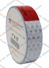 "Conspicuity Tape DOT-C2 Reflective Truck Trailer Safety Red White: 1""/2""/3"" Wide"