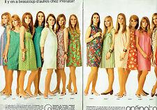 PUBLICITE ADVERTISING 086  1967  Prénatal (2pag) robes de grossesse