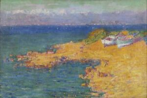 John Peter Russell - Bay of Nice Giclee Canvas Print