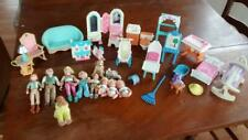 Lot of vintage Fisher-Price Mattel and Playskool doll house items
