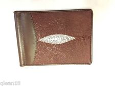 Stingray Brown Wallet Leather Card Purse Men Clutch Handbag Long Fashion Pu Thai