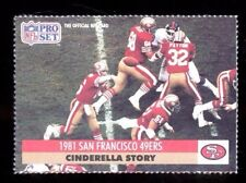 1991 Pro Set JOE MONTANA San Francisco 49ers Cinderella Card Rare