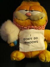 "Vintage Plush Garfield the Cat ""I Don't Do Windows"" by Dakin - New- Last"