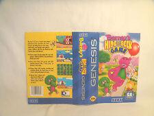 Barney's Hide & Seek game - Sega Genesis Art Work Sheet Only!  *original Sega*