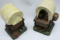Western Style Rosin Wagon Bookends Heavy duty great color Great Condition!!