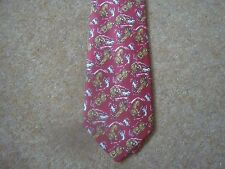 Tintin Tie - Snowy and the Lion from Tintin in the Congo - Red  - New