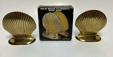 Book Ends Vintage Brass Clamshell Book Ends Solid Brass With Original Box