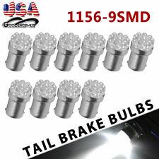 10x Pure White 1156 BA15S 9 SMD LED Brake Backup Reverse Light Bulbs 6000K