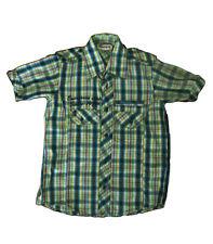 Camisas  niño de Monopatin ,cuadros verde ,talla 8