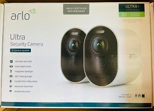 Arlo Ultra 4K UHD HDR Wire-Free 2 Camera Kit - Manufacturer Refurbished
