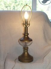 lovely tall antique brass stiffel lamp with a glass reservoir