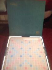 SCRABBLE, DELUXE EDITION CROSSWORD GAME, SELCHOW & RIGHTER, 1977,TURNTABLE BOARD