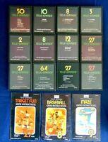 Atari 2600 Sears Tele-Games Game Cartridge Lot Of 15 Memory Match Pong Sports +