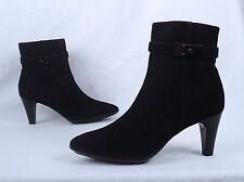 NEW!! Aquatalia 'Galia Bootie- Black Suede- Size 8 M   $498  (B8)