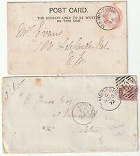 1872/3 HALFPENNY BANTAM & POSTAL STATIONERY MAIDSTONE MORELLA CHERRY BRANDY KENT