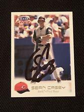 SEAN CASEY 2000 FLEER FOCUS SIGNED AUTOGRAPHED CARD #160 CINCINNATI REDS