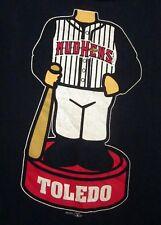 TOLEDO MUD HENS lrg T shirt Bobblehead tee Detroit Tigers baseball 2011