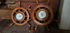Schatz Royal Mariner Ship Bell Clock and Barometer West Germany Full Size 60-70s