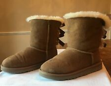 UGG Bailey Bow Youth size 2 chestnut