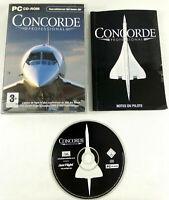 Jeu PC VF Concorde Professional Add On Flight Simulator 2004 notice  Envoi suivi