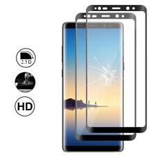"""2X Schutzglas Samsung Galaxy Note 8 6.3"""" Schutzfolie komplett Rand Wölbung"""
