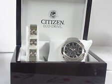 Citizen AT0880-68E Kit w/ S.S Bracelet Chronograph Eco-Drive