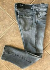 Hugo Boss Black Delaware Jeans 33 30 Slim Fit Faded Grey Candiani Denim NWT $178