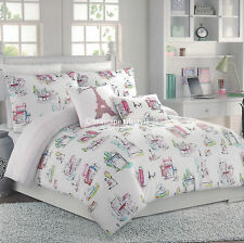 Charmant 5 Pc ❤ Scenes From PARIS ❤ Full/Queen Comforter Set