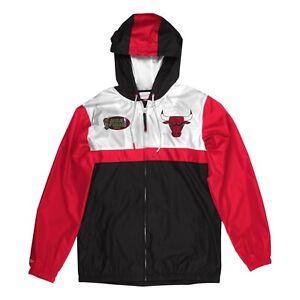 Mitchell & Ness NBA Chicago Bulls Jacket Men's Black Red White Windbreaker Top