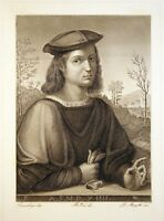 "J. Margotti ""Portrait eines jungen Mannes"" Kst. n. Francesco Giudici um 1840"