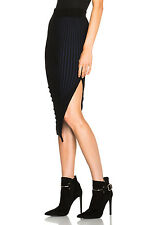 NWT Opening Ceremony Chain Stripe Stretch Slit Pencil Sweater Knit Skirt S Small