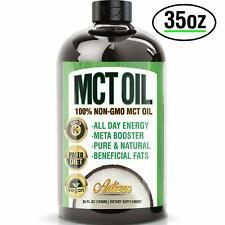 100% PURE MCT Oil HUGE 35oz (Raise Ketones High Faster C8 & C10 MCTs) – Artizen