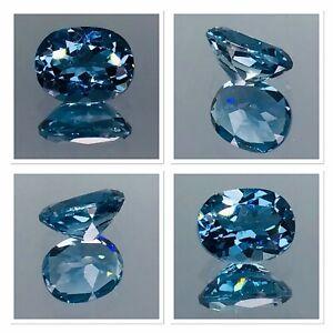 Deep Blue Topaz 2.35 Carat Oval Cut Gemstone FL Clairty Elegant Blue Natural