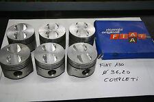6 PISTONI ORIGINALI FIAT 130 - misura 96,20 mm - COMPLETI