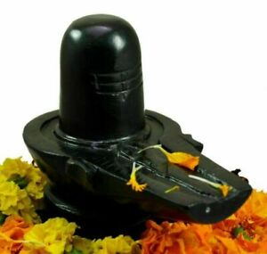 BLACK Marble Shiva Lingam Shivling For Puja home temple mahadev hindu 2 Inch