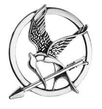Hunger Games Mockingjay Antique Silver Brooch Pin Katniss Arrow Bird Badge Gift