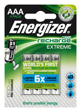 4x HR03 Energizer Rechargeable Extreme AAA LR03 MN2400 Micro 1,5V Ministilo 1,2V