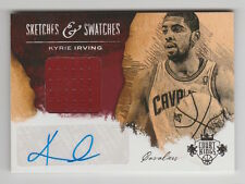 2013/14 COURT KINGS KYRIE IRVING AUTO AUTOGRAPH JERSEY 25/49 SKETCHES & SWATCHES