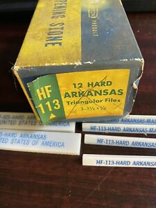 behr manning co - arkansas sharpening stones - lotof 6- 2 hf 823 and 4 nf-113 w/