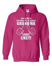 This Is What The World's Greatest Grandma Looks Like Novelty Sweatshirt Hoodies