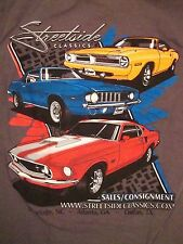 Streetside Classic Dallas Texas TX Consignment Muscle Cars Street Side T Shirt S