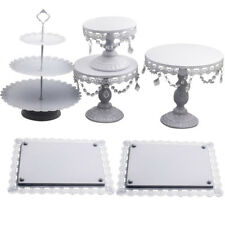 Wedding Birthday Cake Stand 6PCS  Crystal Decor Metal Cupcake Holder Dishes