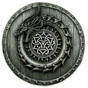 Viking decor Ouroboros serpent norse mythology pagan art metal wall sculpture