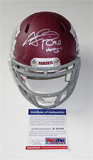 "JOHNNY MANZIEL SIGNED ""HEISMAN '12!"" TEXAS A&M CUSTOM #2 MINI HELMET PSA R83448"