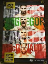 UFC 189 CONOR MCGREGOR vs CHAD MENDES SIGNED FULL CARD FIGHT POSTER