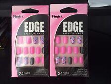 2-Fing'rs Edge Hardcore Nails 31115 Pink Polka Mosaic 48 Nails 31115 Short
