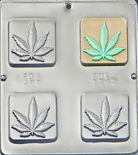Marijuana Leaf Pot Leaf Square Bar Chocolate Candy Mold 1343 NEW