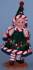 "Madame Alexander resin doll figurine ""Santas Little Helper"" #91010, Christmas"